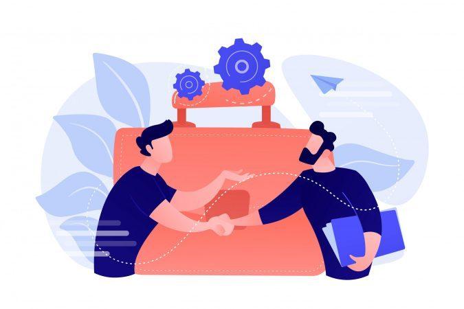 Partnership concept vector illustration.