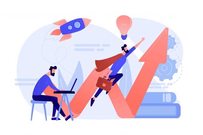Start up launch concept vector illustration.
