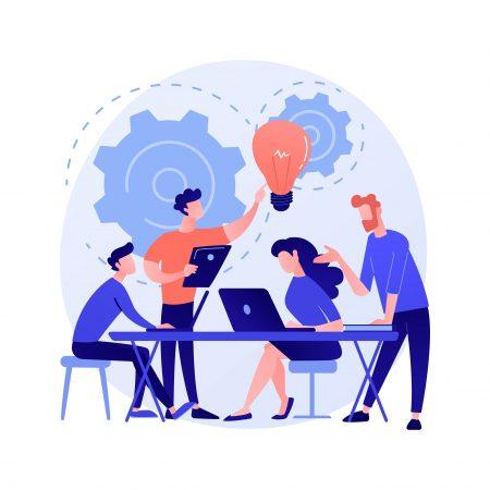 Corporate meeting concept metaphor