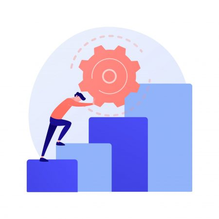 Persistence abstract concept vector illustration.